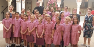 Vicenza-Pembridge school choir with the Pastor, Basilica of Monte Berico