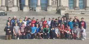 Berlin-St Clement's School Limerick outside the Bundestag.