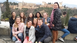 Granada-Newcastle High School studying Spanish in Granada