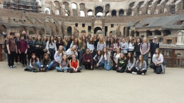 Rome-Bohunt School at the Coliseum