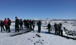 Iceland-All Saints learn about the formation of Glacier's