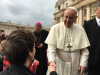 Dyalan Stewart of Bohunt School meets the Pope